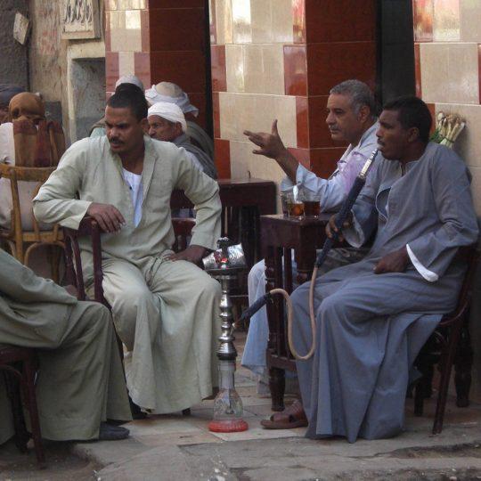Onderonsje in Egypte