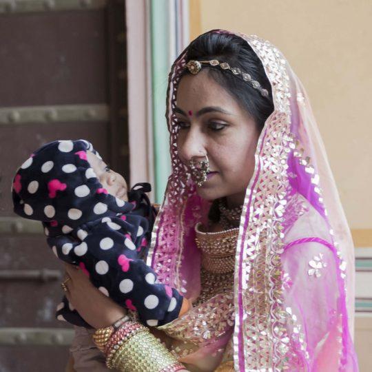 Moeder met kind India