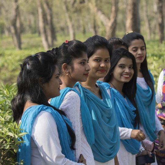 Schooljeugd in Assam India