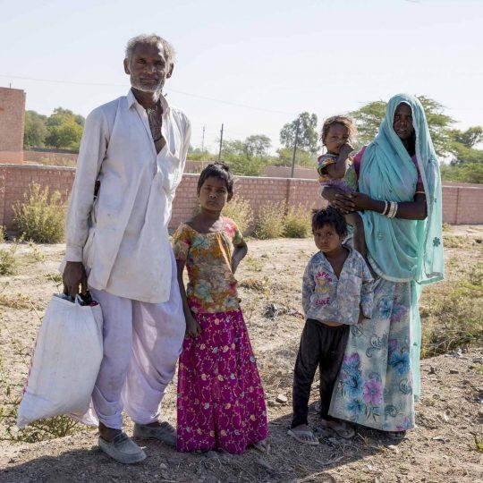 Gezin uit Gujarat India